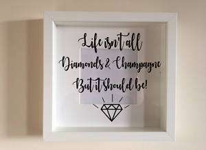 IKEA-RIBBA-Box-Frame-Personalised-Vinyl-Wall-Art-Quote-Life-isnt-all-about