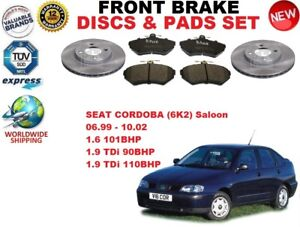 para-Seat-Cordoba-SEDAN-1-6-1-9tdi-99-02-Discos-freno-Delantero-Set-Kit