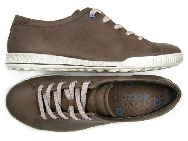 Donna ECCO CRISP 227854 brown leather fashion scarpe da ginnastica sz. 38 (US 7.5) NEW!
