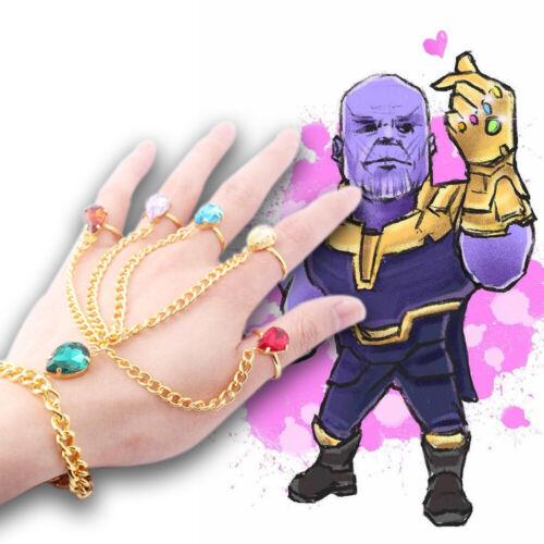 2019 Infinite guerre Thanos Anneau Bracelet Gant Cosplay Props Réglable Bijoux