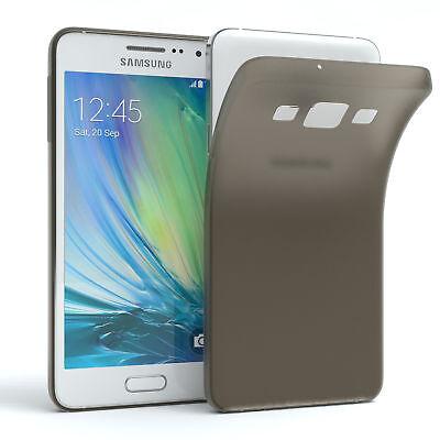 Schutz Hülle für Samsung Galaxy A3 (2015) Cover Handy Case Matt Schwarz