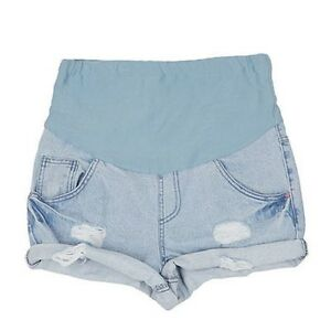 Maternity-Shorts-Loose-High-Waist-Denim-Pants-Pregnant-Women-Summer-Short-Jeans