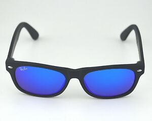 450ae7220fc Ray Ban RB2132 New Wayfarer Flash 622 17 Black  Blue Flash Lens ...