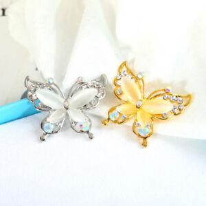 Fashion-Jewelry-Gold-Silver-Brooch-Pin-Butterfly-Brooch-Pin-Rhinestone-Women