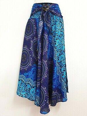 Women Sarong Long Skirt coconut Hippie Gypsy Lagenlook Bohemian Boho Smock CSRM