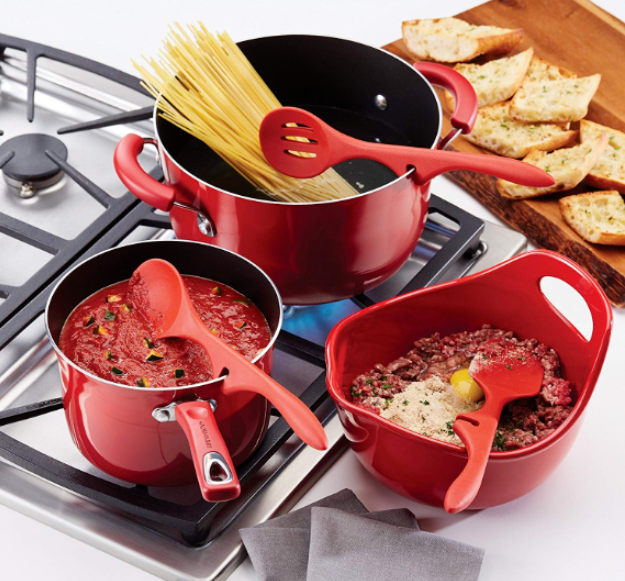 Rachael Ray Silicone 3 x Lazy Tools, Red, Kitchen Tools Gadgets Cooking  Utensils