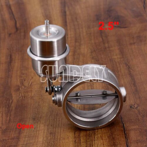 """Exhaust Control Valve with Vacuum Actuator for 2.5/"""" pipe Stainless steel Closer"""
