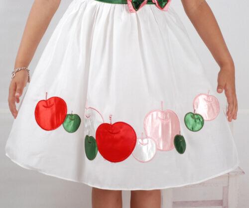 Blanc 18 M à 5 Ans Nouveau Parti de Fille de Fleur Robe Été en Rose