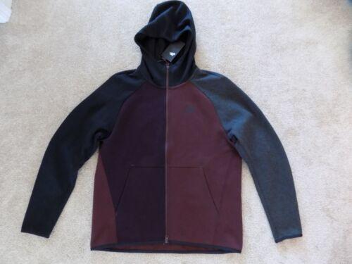 Negro Hoodie Vino Large Gris 928483 Jacket Tech Windrunner Mens Nike Fleece Nuevo Uxf8qf