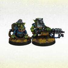 Ork War2 Orc Grot Greatcoat Iron Reich Goblin Flamer Team (2) Kromlech KRM080