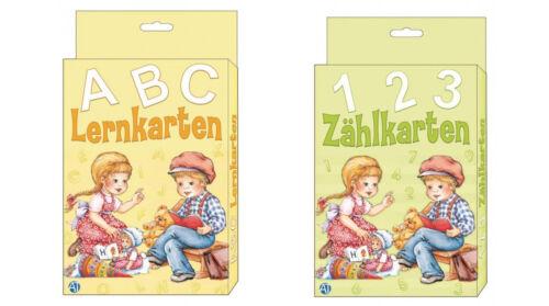 Lernkarten Zählkarten Ziffernkarten Zahlenkarten Buchstaben ABC 123