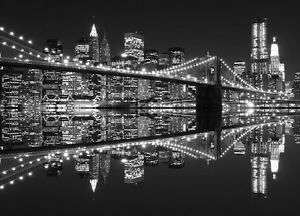 Details About Wall Mural Skyline New York City Photo Wallpaper Cityscape Black White Large