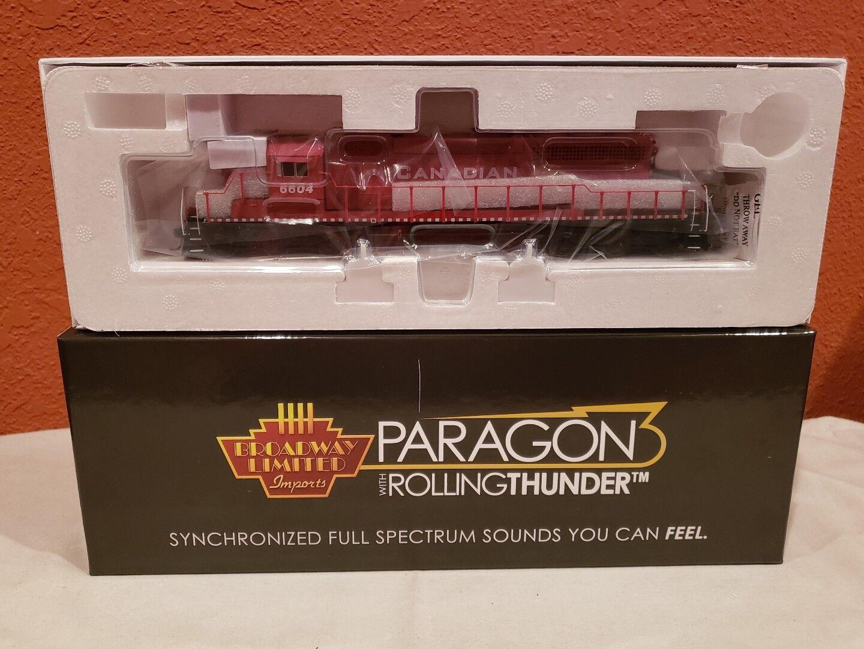Escala Ho consumos Paragon 3 Rolling Thunder 5364 EMD SD40-2 CP 6604 DCC sonido nuevo.