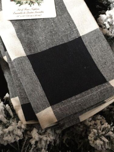 Ridgefield Home Cloth Table Napkins  Christmas Holiday Farmhouse Set of 4 New