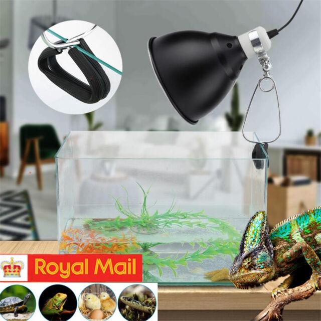 300W Reptile Ceramic Heat UVA/UVB Lamp Light Dome Holder Turtle Brooder Basking