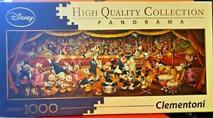 Jigsaw-Puzzles-1000-Pieces-Disney-Classic-Panorama-Clementoni-Games-Orchestra