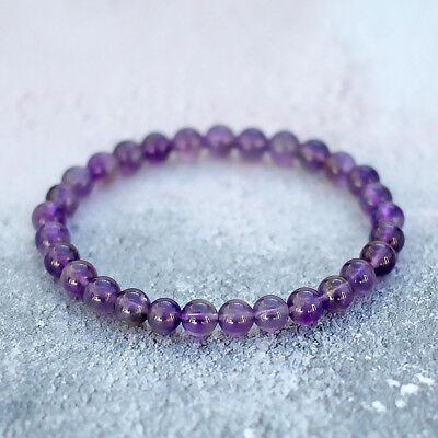 Women Natural Gemstone Bracelet Rose Quartz 10mm beads stretchable elasticated
