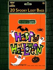 20 X Grande Halloween Festa Bottino Regalo Favore Sacchetti Dolcetto o Scherzetto GRATIS P&P