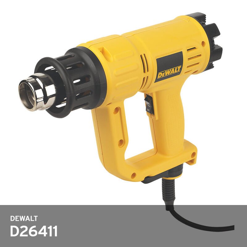 DeWALT D26411 Heat Gun 1800W Dial Temp. Control 50600°C 220V Dryer w  2-Nozzles
