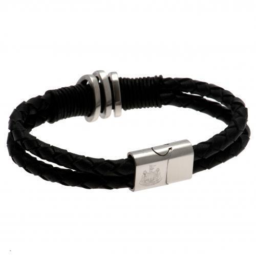 Newcastle United F.C. Leather Bracelet Official Merchandise