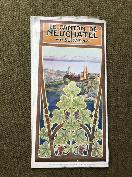 Herrlich Le Canton De Neuchátel Suisse, Imp.delachaux Et Nestlè S.a.,le Jura,ca.1910, Neueste Mode