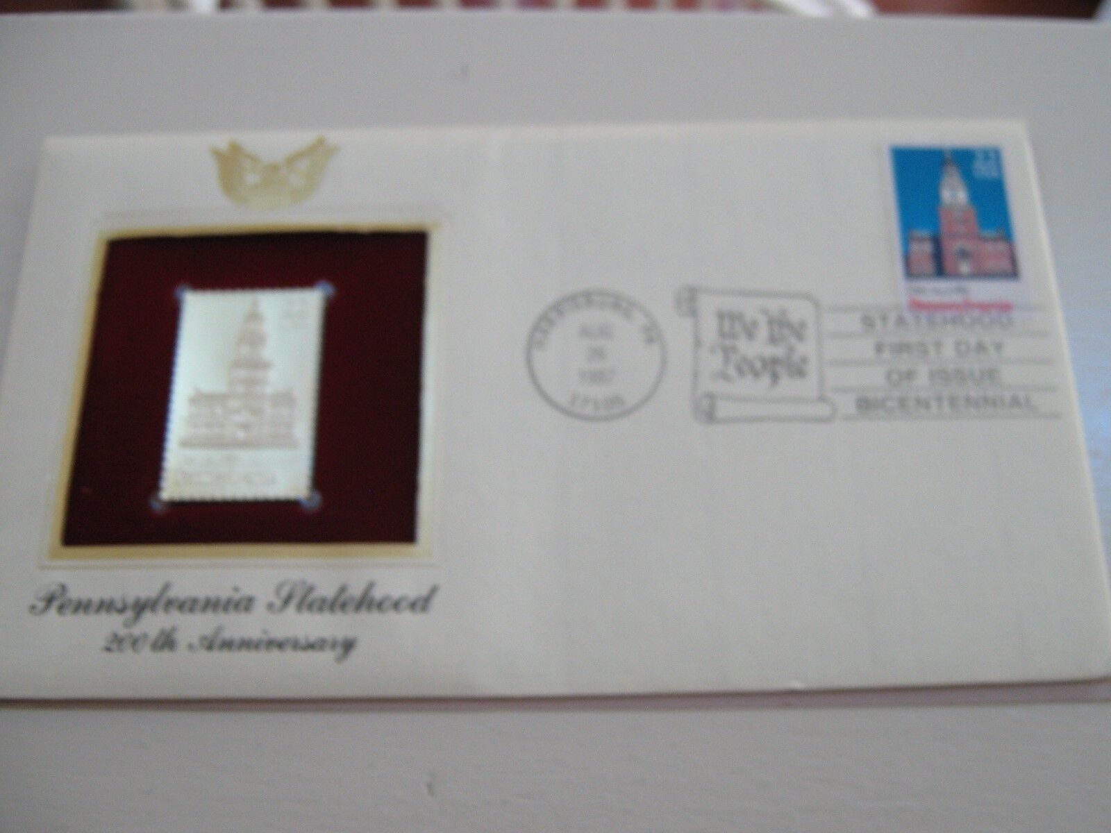 22 kt Gold Replicas of United States Stamps , Pennsylva