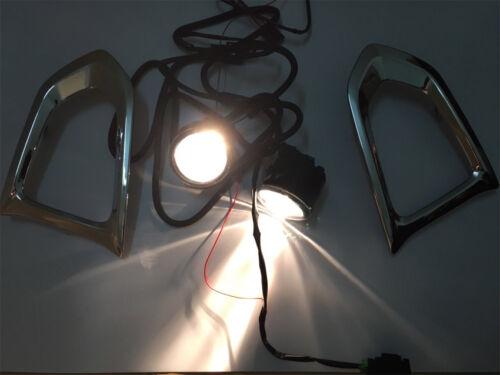 For Nissan Patrol Armada Y62 16-18 LED Car Front Fog Light Bumper Lamp Lens