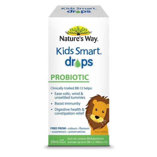 Nature's Way Kids Smart Probiotic Drops 20ml Ease Wind Settle Little Tummies