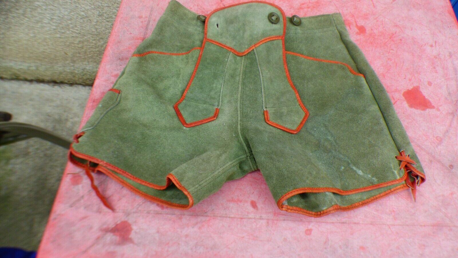 Unterhose bayerischen vintage aus wildleder grün grün grün 35cm 12421c