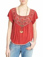Free People 'muse' Embroidered Blouse