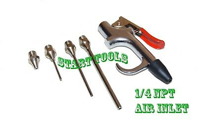 5pc Air Blow Gun Kit Air Compressor Nozzle Tip Needle Inflation Blower Air UpTip