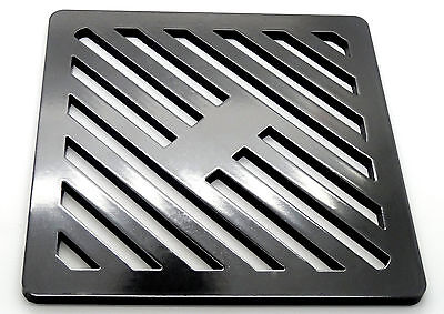 """12"""" Square Metal steel Gully Grate Grid Heavy Duty Drain Cover like cast iron"""