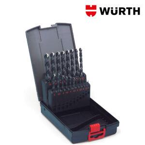 Kit-Punte-Trapano-per-Acciaio-HSS-19pz-Professionali-Set-1-10mm-WURTH
