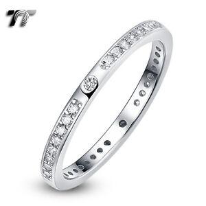 TT-2mm-Width-RHODIUM-925-Sterling-Silver-Engagement-Wedding-Ring-RW48-NEW
