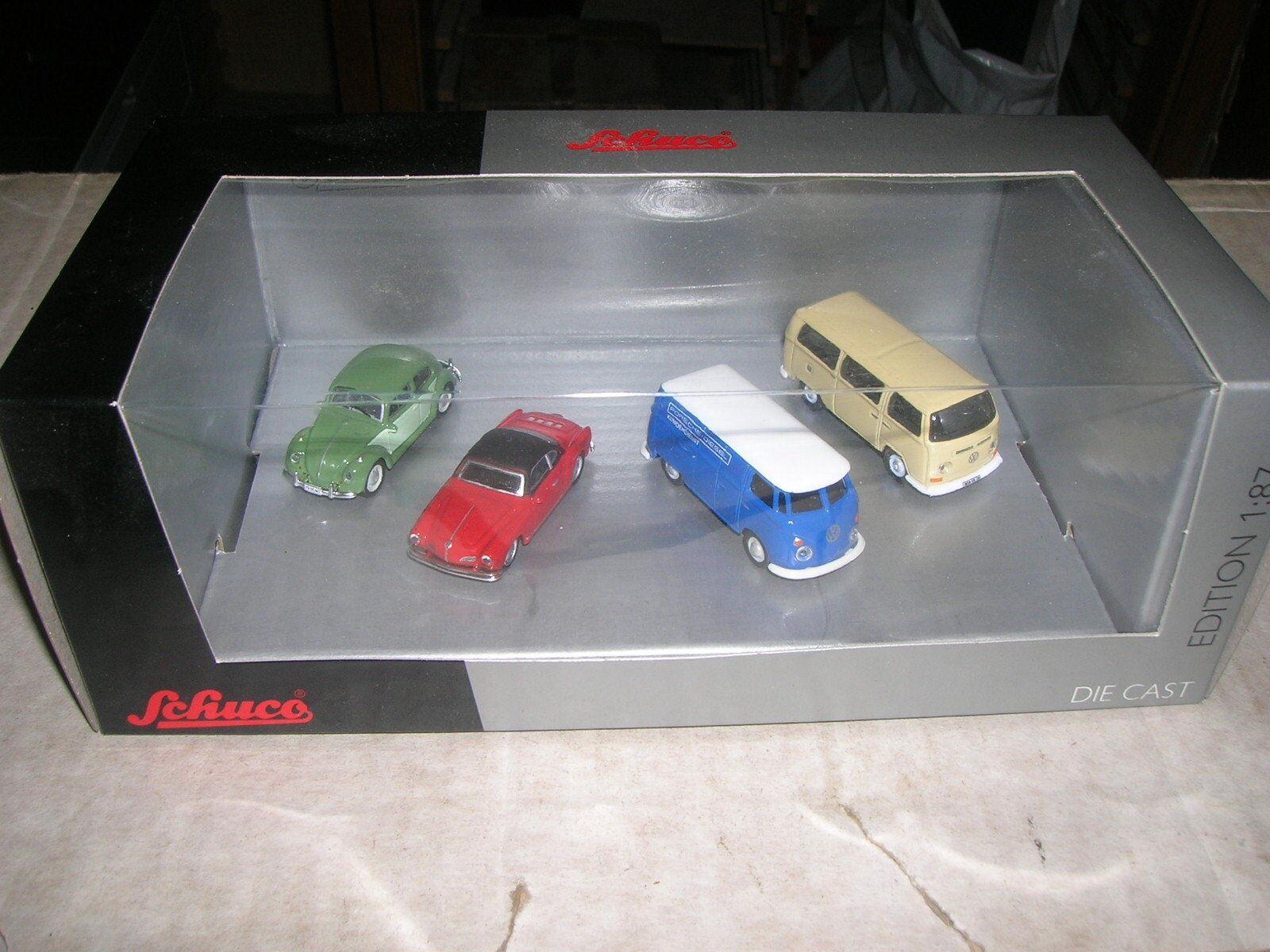 SCHUCO VW Volkswagen Classique Set Coccinelle Karmann Camionnette 1 87 Limited Edition Box