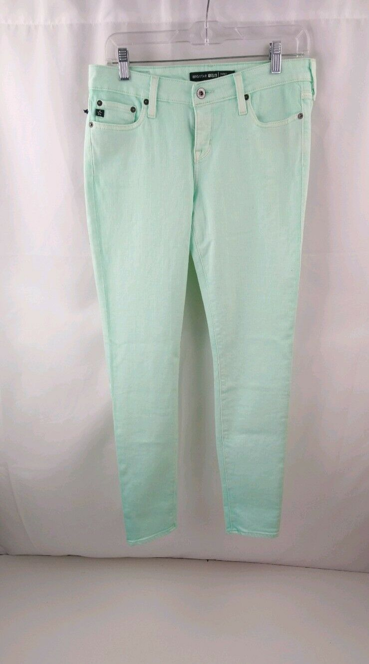 Big star remy low rise fit skinny size 28 green NWT