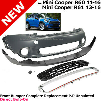 Mini Paceman R61 2013-2017 Front Bumper Primed With Moulding Holes High Quality