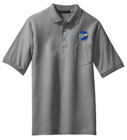 Williamette Logging Locomotives Embroidered Polo [109]