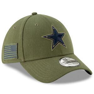 5922291215a Dallas Cowboys 2018 NFL Era 39thirty Salute to Service Sideline Hat M l