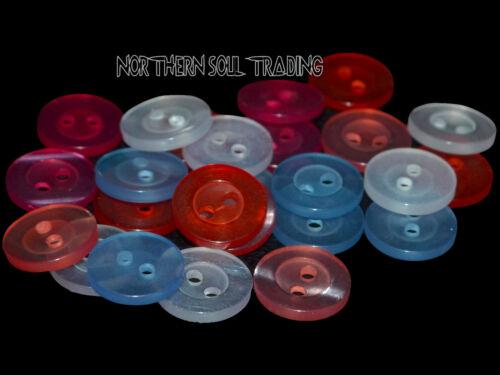 Divers Différentes Couleurs Disponibles * 11 mm Multicolore 2 Trous Résine Boutons
