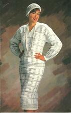 *Lady's Checked Skirt & Top Outfit & Shell Ridge Hat crochet PATTERN INSTRUCTION