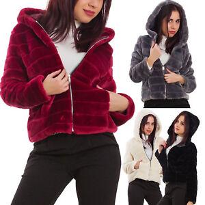 Pelliccia-donna-ecologica-cappuccio-zip-cerniera-eco-giubbotto-giacca-VB-7657