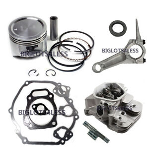 HONDA-GX390-13HP-ASSEMBLED-CYLINDER-HEAD-PISTON-ROD-GASKETS-ENGINE-REBUILD-KIT
