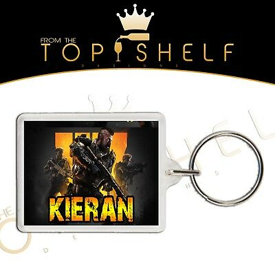 Personalised custom COD Call of Duty WW2 keyring xbox ps4 any name bag tag