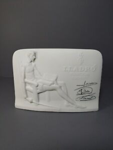 LLadro-Collector-039-s-Society-White-Plaque-Don-Quixote-SIGNED-Vintage-1985