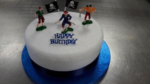 Plastic Pirates Birthday Cake Decoration Set