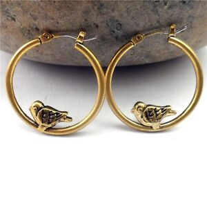 Ring In Kaars.Rings Ears Golden Creole Small Ring Bird M1 Ebay