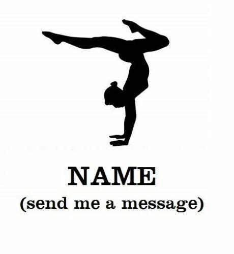 "Ballet Gymnast Cheerleader w name decal sticker for DIY 8/"" glass block"