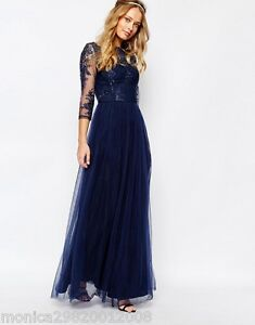 Details About Chi Chi London Wedding Prom Party Maxi Dress Uk10 Eur38 Us6