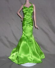 NEW  LONE STAR GREAT BARBIE GREEN CHARMEUSE GLAMOUR DRESS GOWN CLOTHES FAST SHPG